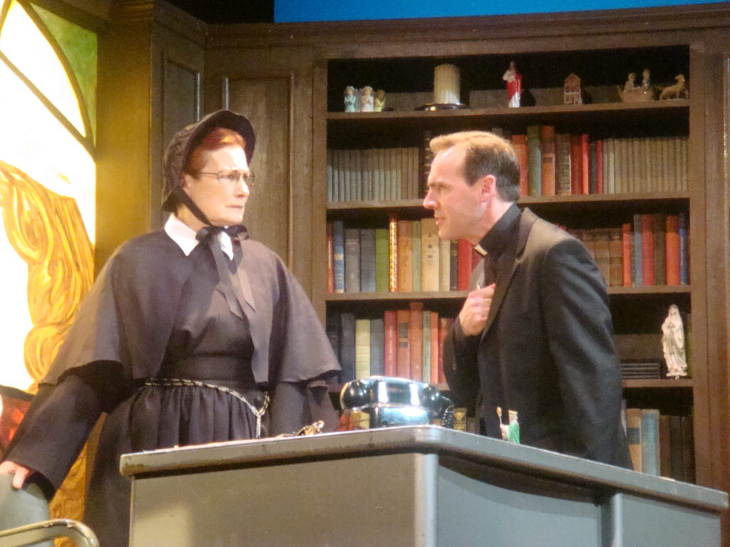 """Doubt"" by John Patrick Shanley, directed by Nancy Curran Willis Pictured - Sister Aloysius (Kathleen Huber)"