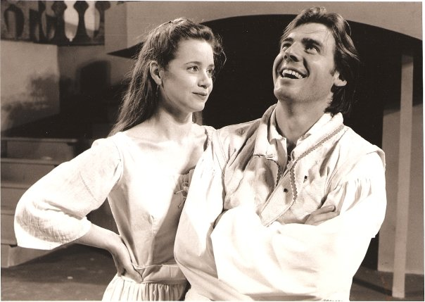 """Much Ado"" directed by Nancy Saklad Pictured - Beatrice (Linda Amendola) & Benedick (Me)"
