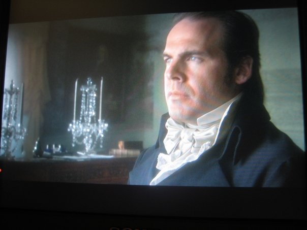 """Alexander Hamilton"" directed by Muffie Meyer a 'behind the scenes' still, Me as Aaron Burr"